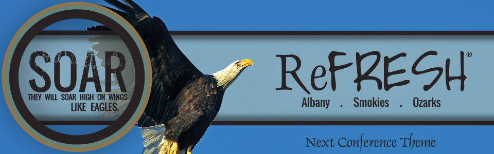 ReFRESH web banner eagle on top